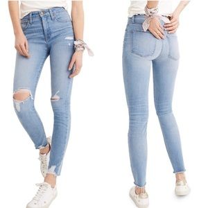 "Madewell 9"" High Riser Distressed Skinny Jean"